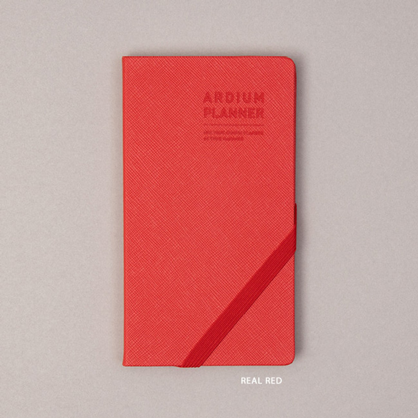 Real Red  - Ardium 2021 Simple handy dated weekly planner scheduler