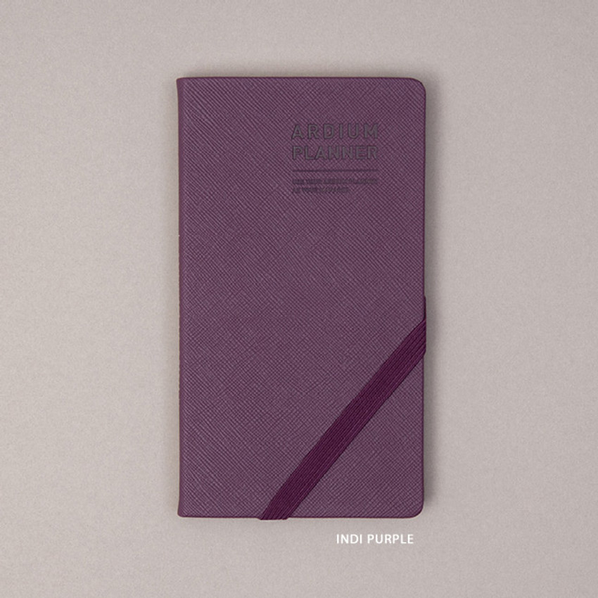 Indi purple - Ardium 2021 Simple handy dated weekly planner scheduler