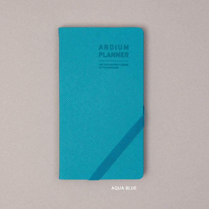 Aqua mint - Ardium 2021 Simple handy dated weekly planner scheduler