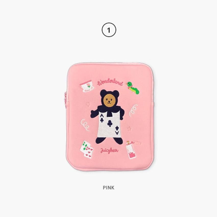 01 Pink - Juicy bear iPad pro tablet PC 11-inch sleeve case