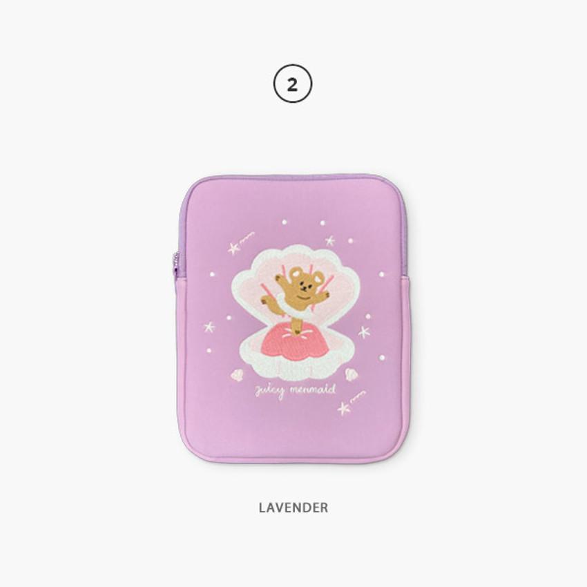 02 Lavender - Juicy bear iPad pro tablet PC 11-inch sleeve case