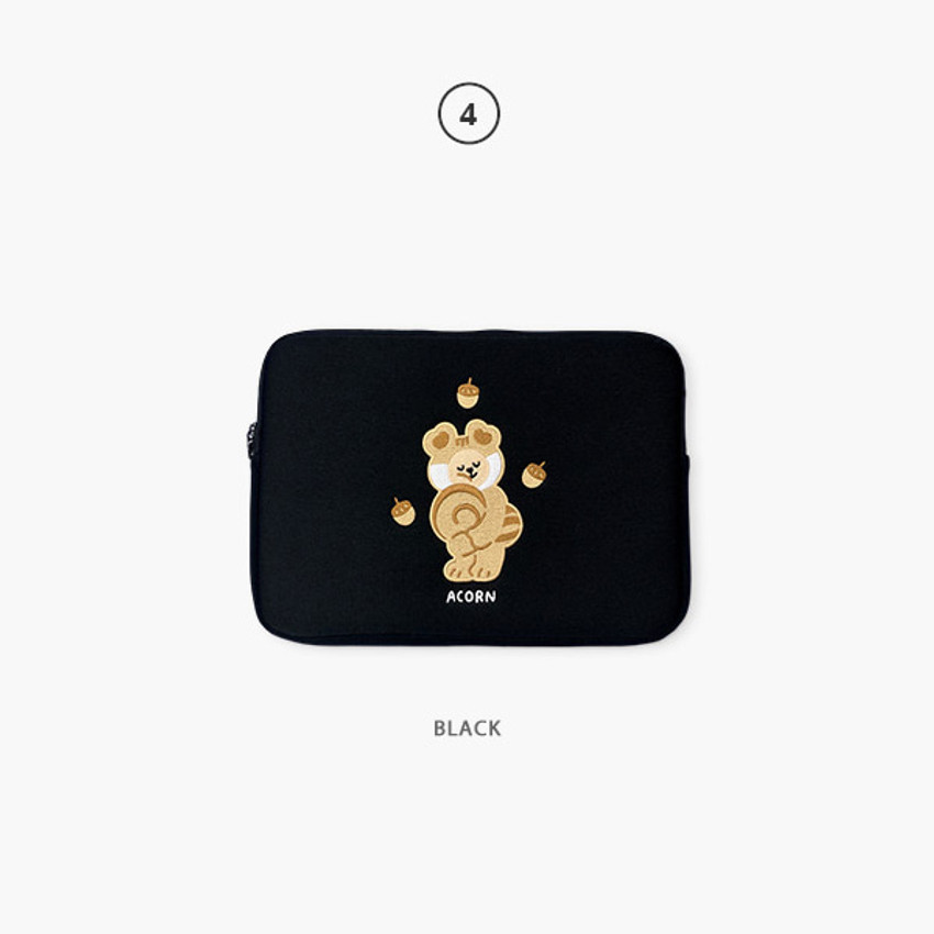 04 Black - Second Mansion Juicy bear 13 inch laptop sleeve case pouch