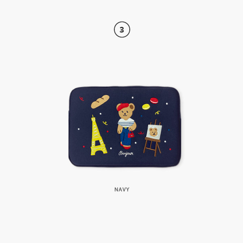 03 Navy - Second Mansion Juicy bear 13 inch laptop sleeve case pouch