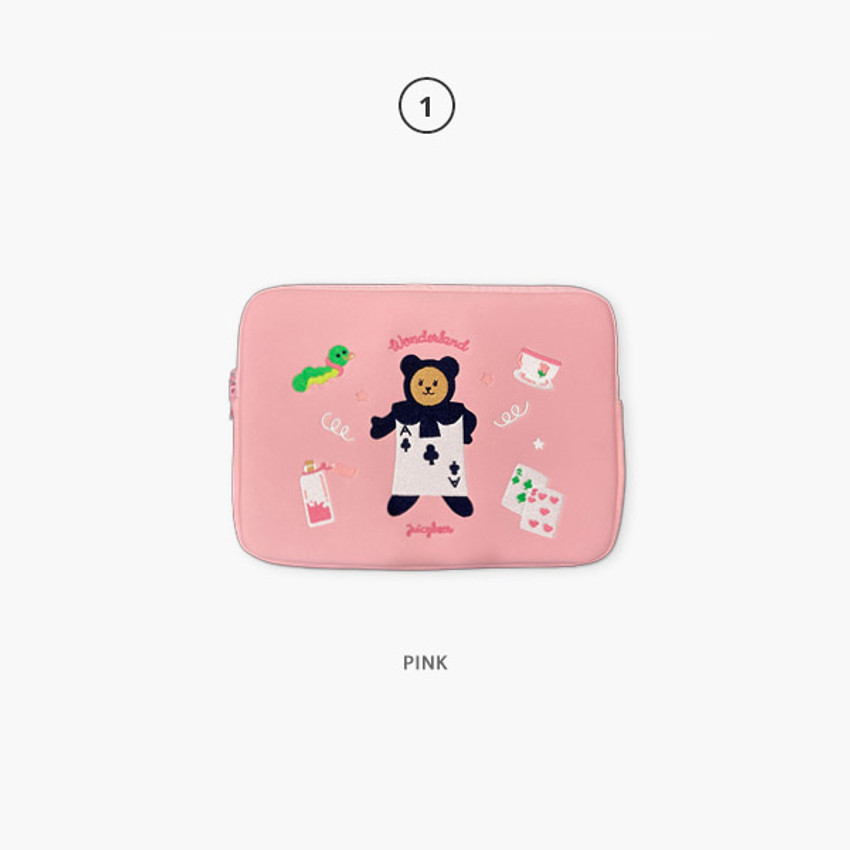 01 Pink - Second Mansion Juicy bear 13 inch laptop sleeve case pouch