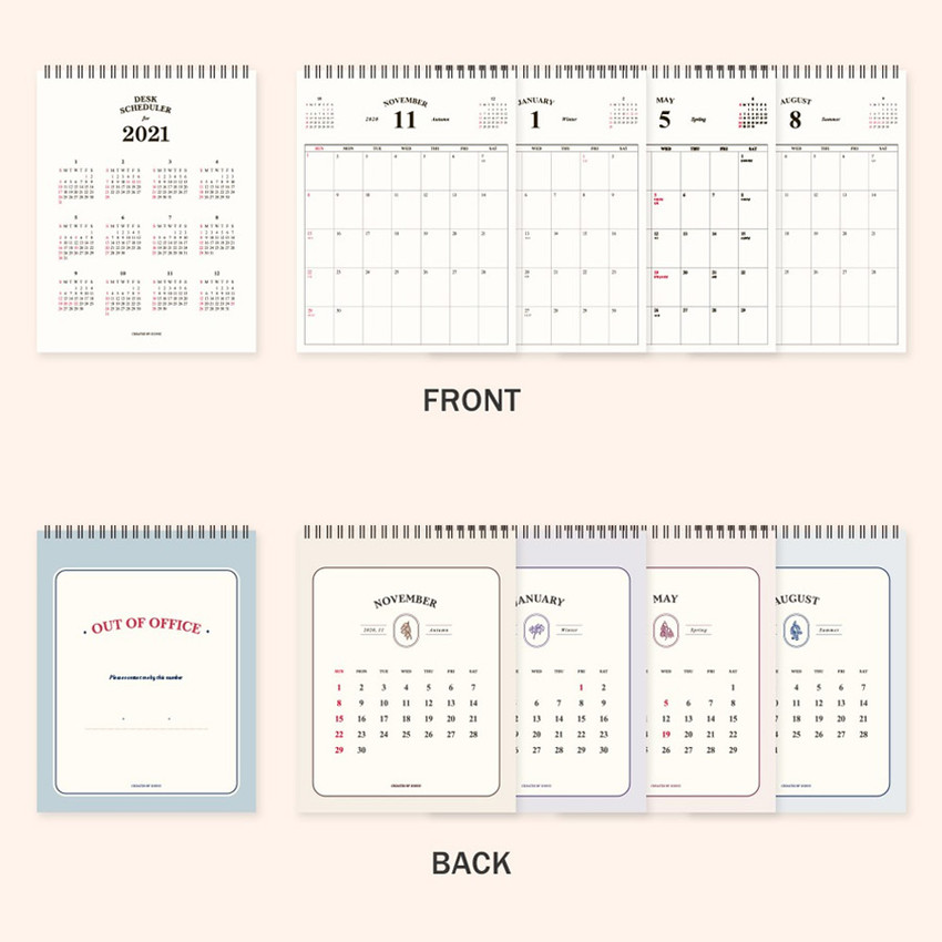Pages - ICONIC 2021 Simple desk scheduler calendar