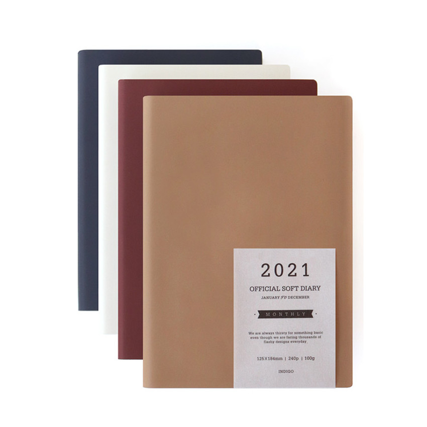 Indigo 2021 Official soft dated monthly diary planner