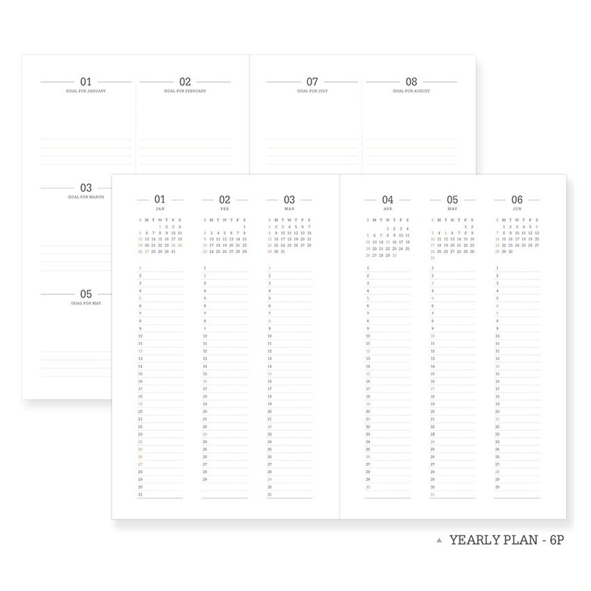 Yearly plan - Indigo 2021 Official soft dated monthly diary planner