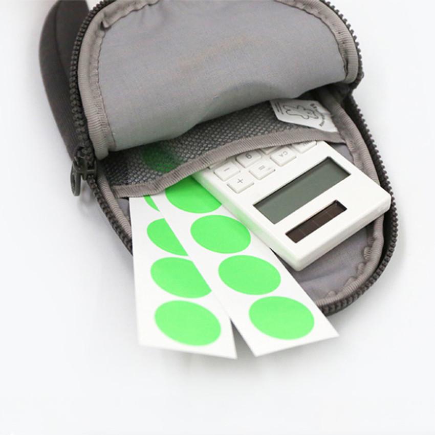 Inner pocket - ROMANE Brunch Brother penguin zipper pencil case
