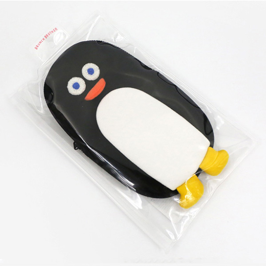 Comes with a pouch - ROMANE Brunch Brother penguin zipper pencil case