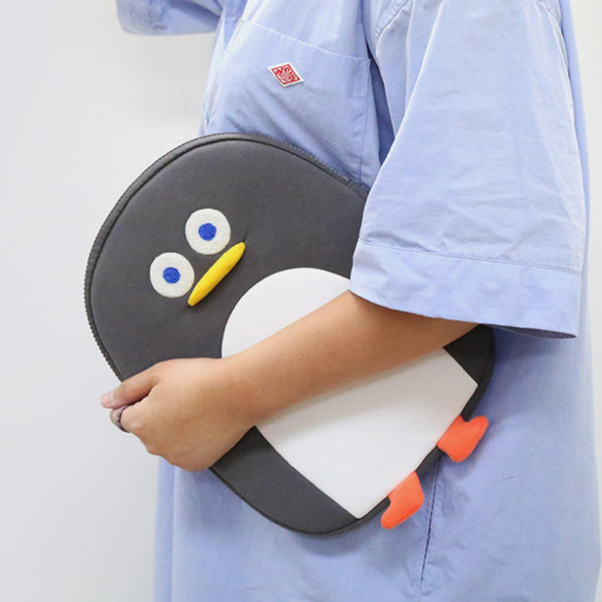 Gray - ROMANE Penguin iPad Pro tablet PC 11 inches sleeve case