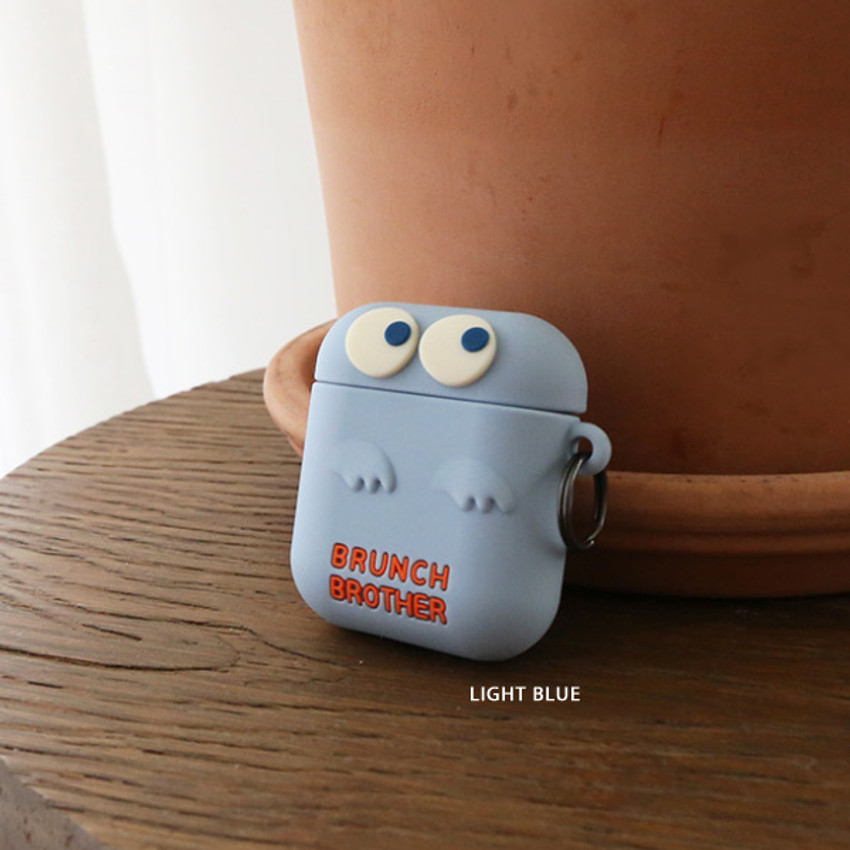 Light blue - ROMANE Brunch Brother Ghost Airpods silicon cover
