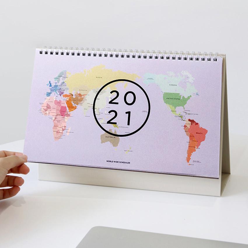 GMZ 2021 World wide monthly desk calendar scheduler