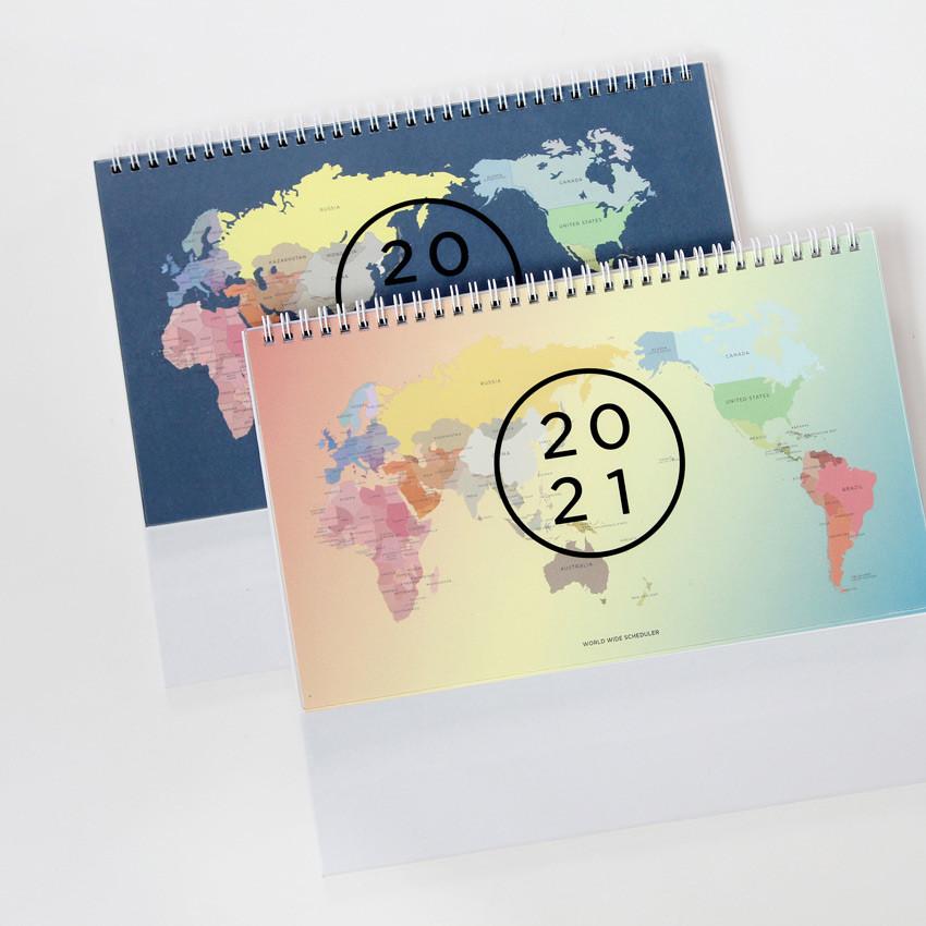 Ung 2021 Calendar GMZ 2021 World wide monthly desk calendar scheduler