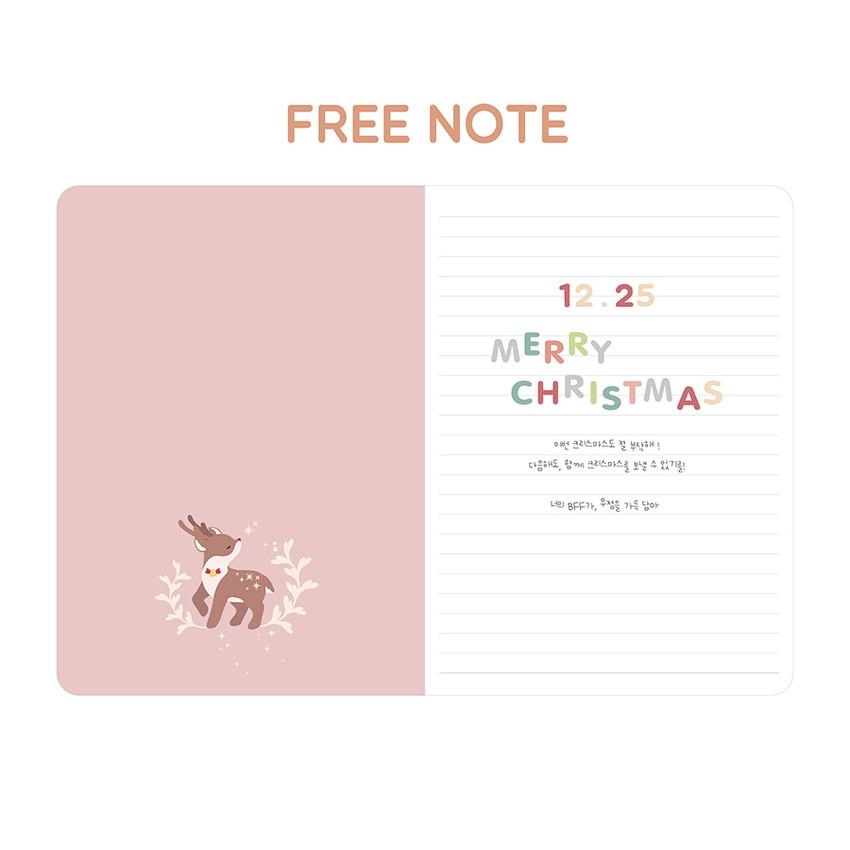 Free note - PLEPLE 2021 Chou Chou dated weekly planner scheduler