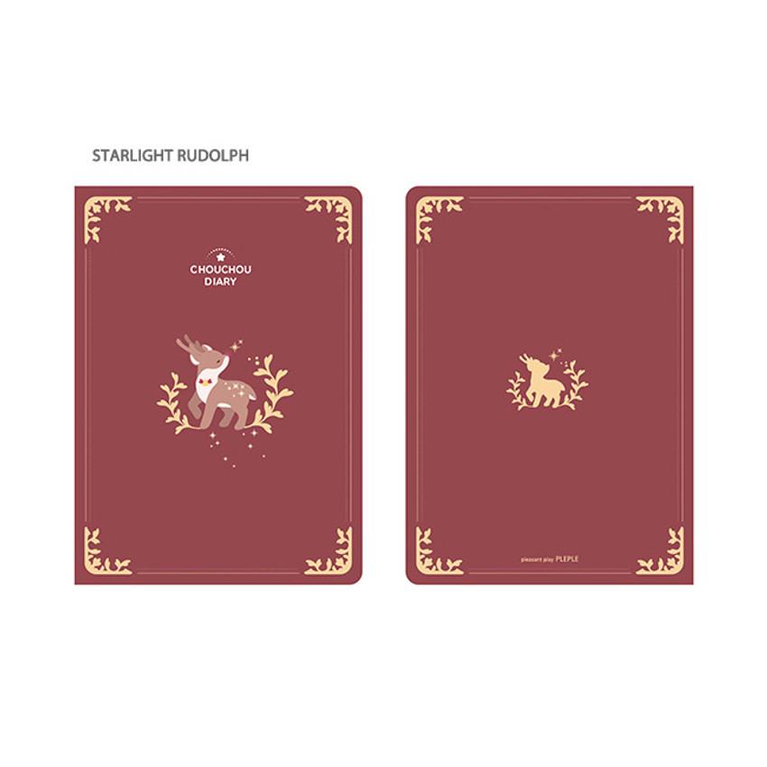 4. STARLIGHT RUDOLPH - PLEPLE 2021 Chou Chou dated weekly planner scheduler