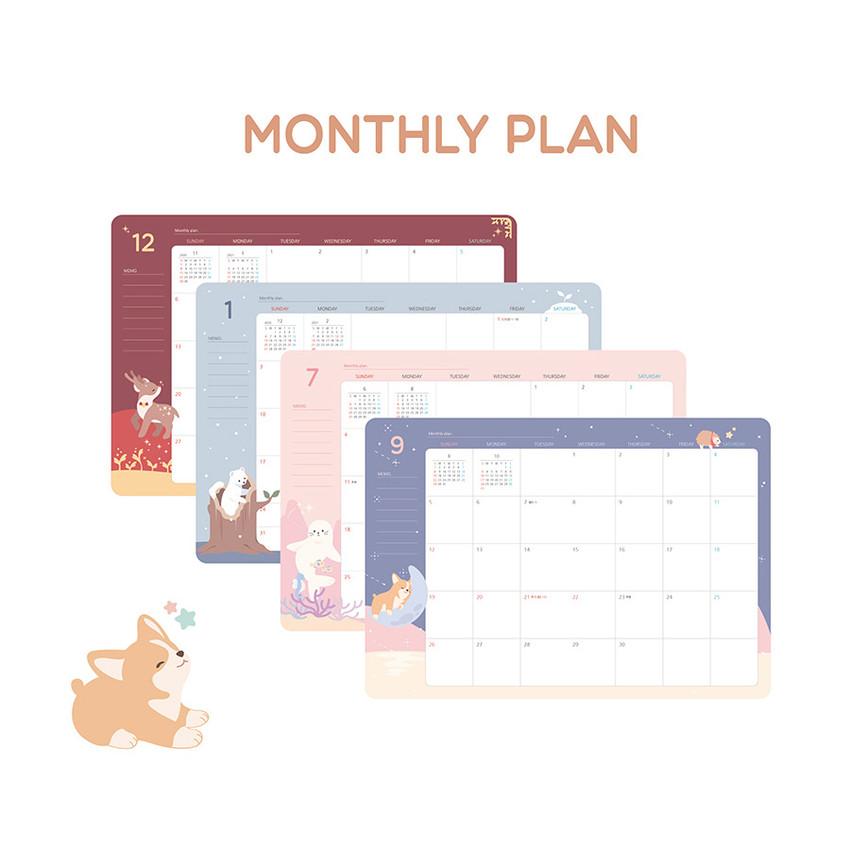 Monthly plan - PLEPLE 2021 Chou Chou dated weekly planner scheduler