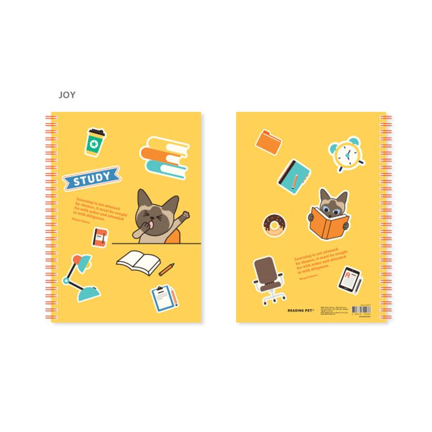 Joy - Bookfriends Reading pet wire bound blank notebook