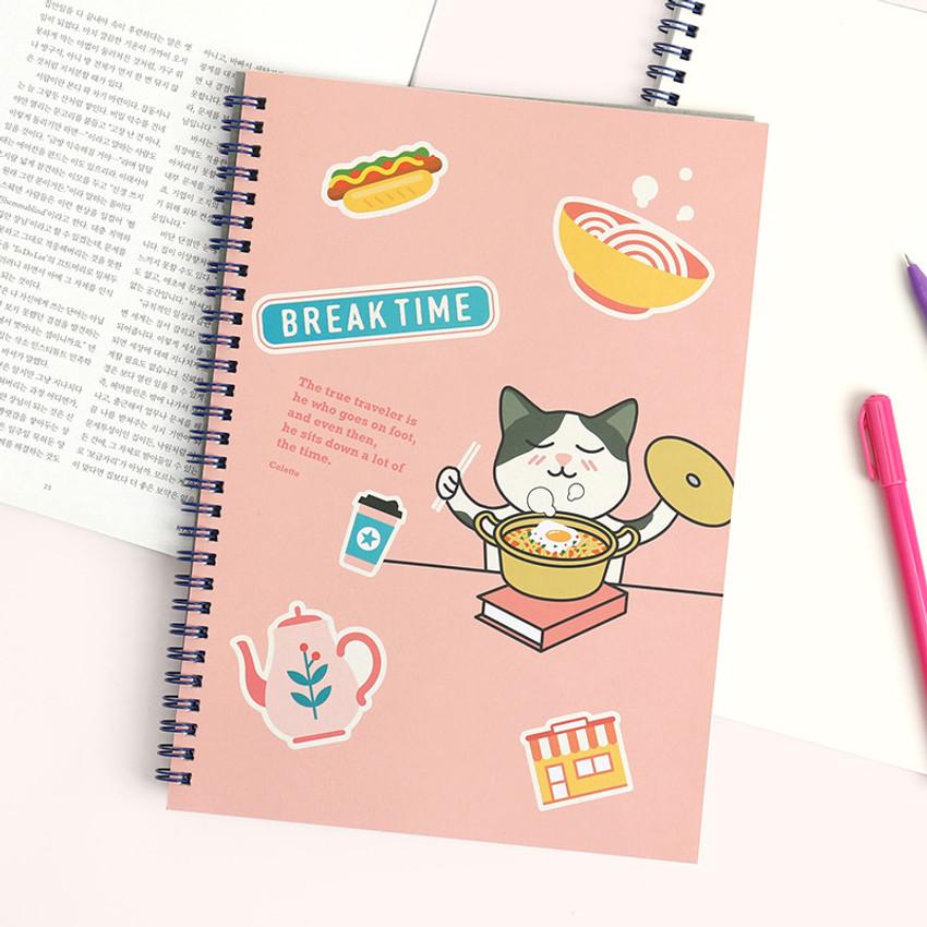 Bookzzi - Bookfriends Reading pet wire bound blank notebook