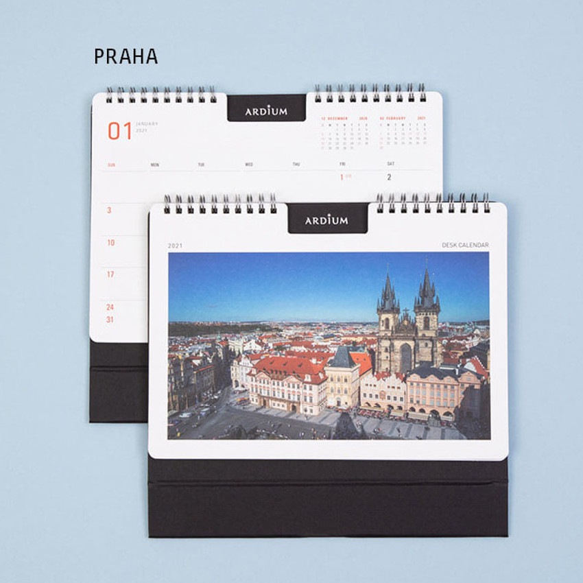 PRAHA - Ardium 2021 Europe travel monthly desk calendar