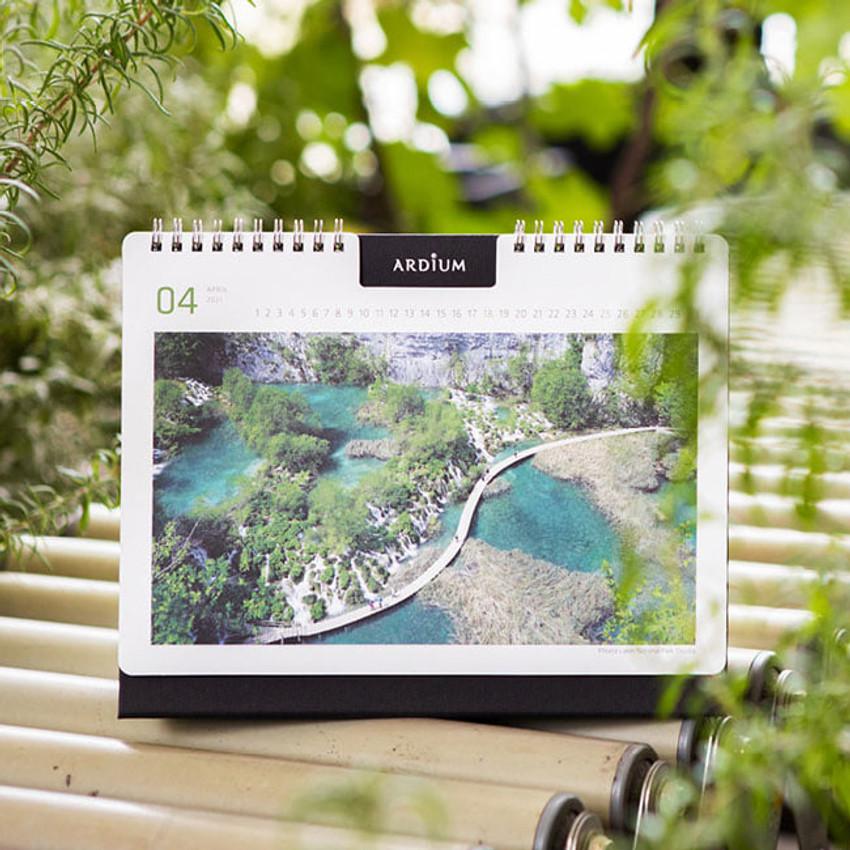 Ardium 2021 Europe travel monthly desk calendar