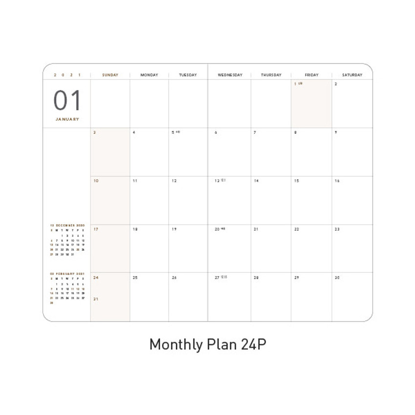 Monthly plan - Ardium 2021 365 days medium dated daily journal diary