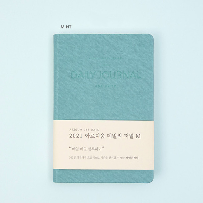 Mint - Ardium 2021 365 days medium dated daily journal diary