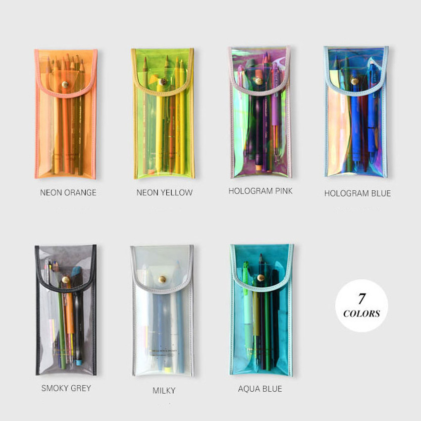 Color - Play Obje Twinkle translucent PVC pencil case pouch