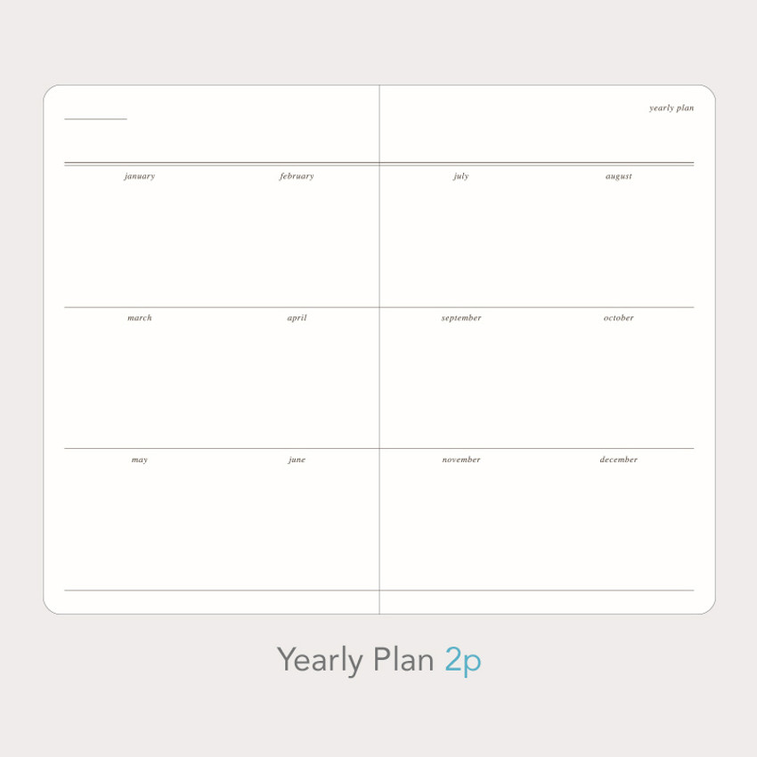 Yearly plan - Paperian Florence small undated daily diary journal