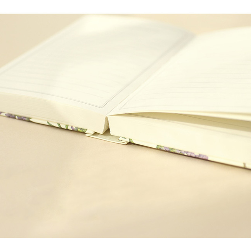 Opens flat - Paperian Florence small undated daily diary journal