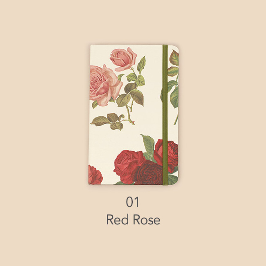 Red rose - Paperian Florence small undated daily diary journal