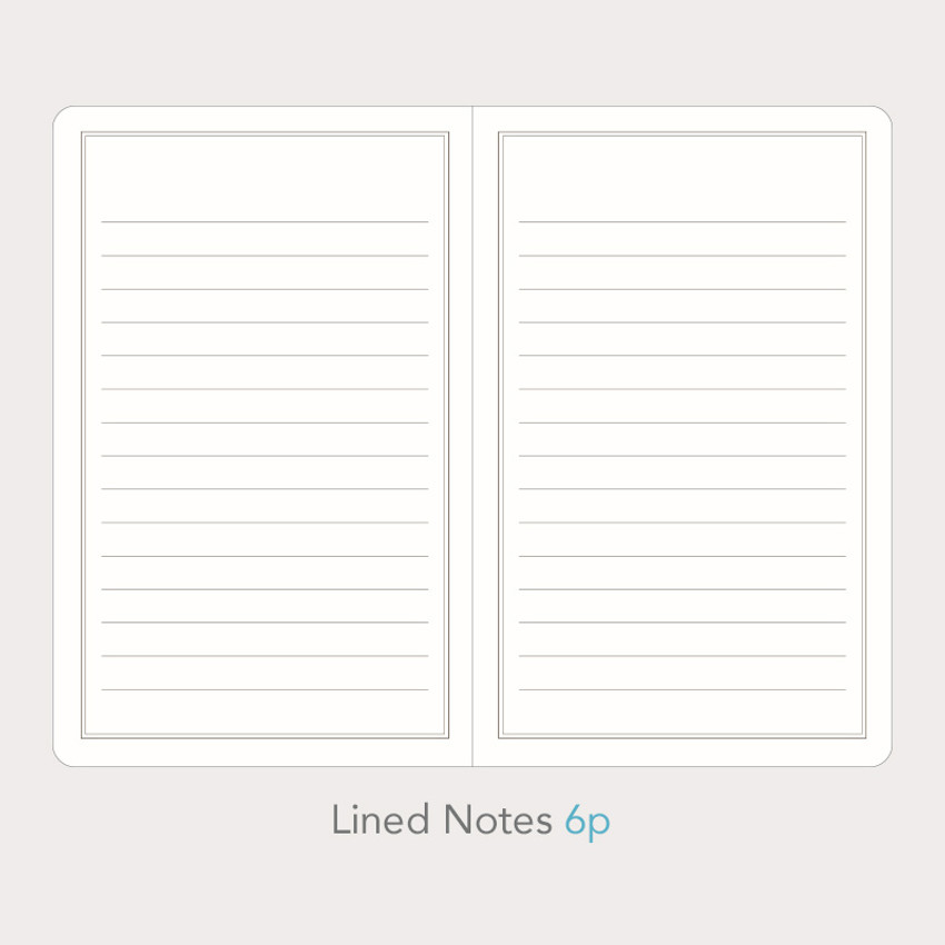 Lined notes - Paperian Florence small undated daily diary journal
