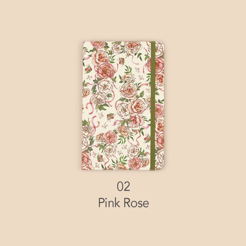Pink rose - Paperian Florence small undated daily diary journal