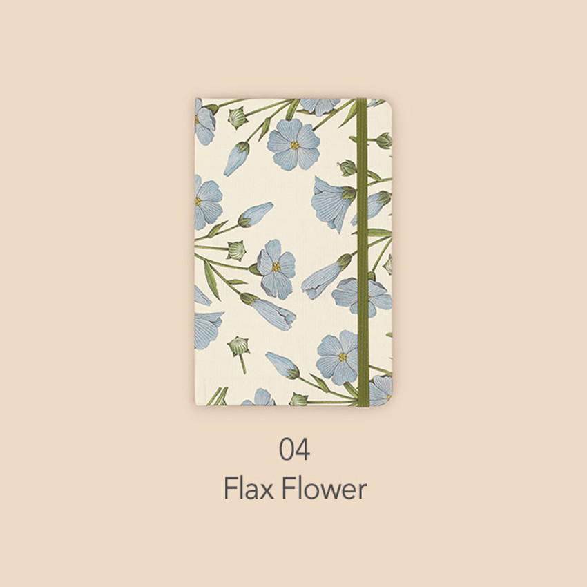 Flax flower - Paperian Florence small undated daily diary journal