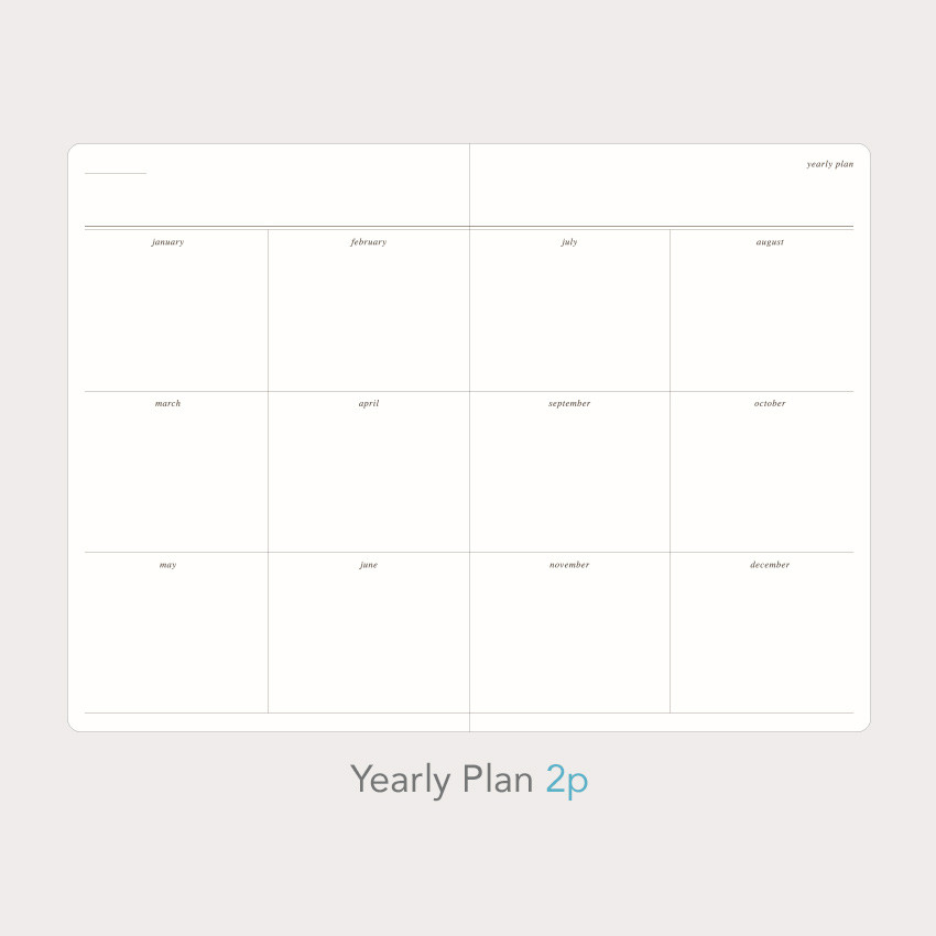 Yearly plan - Paperian Florence large undated daily diary journal