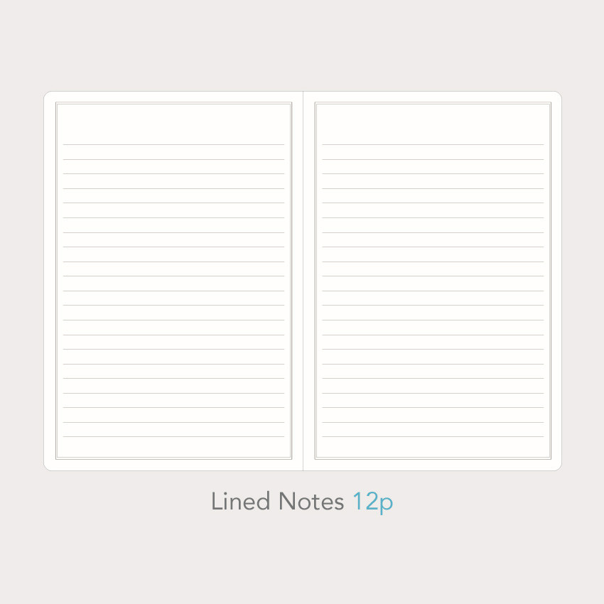 Lined notes - Paperian Florence large undated daily diary journal