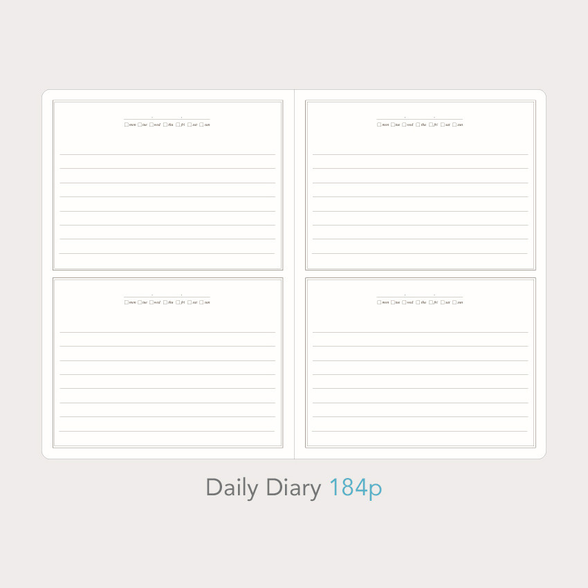 Daily diary - Paperian Florence large undated daily diary journal