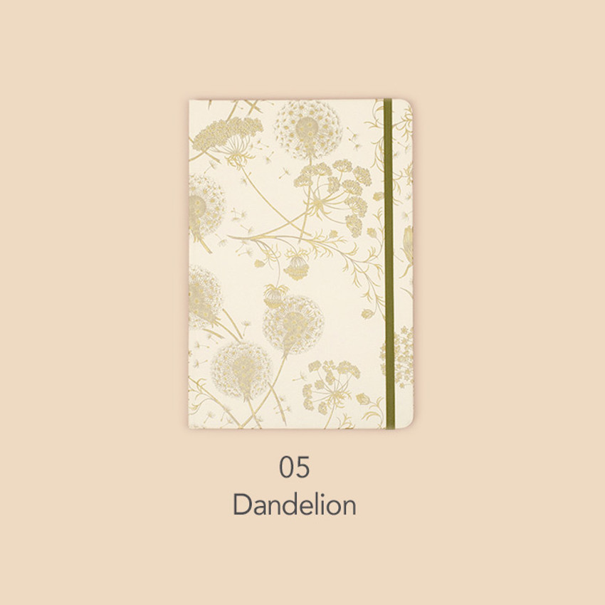 Dandelion - Paperian Florence large undated daily diary journal