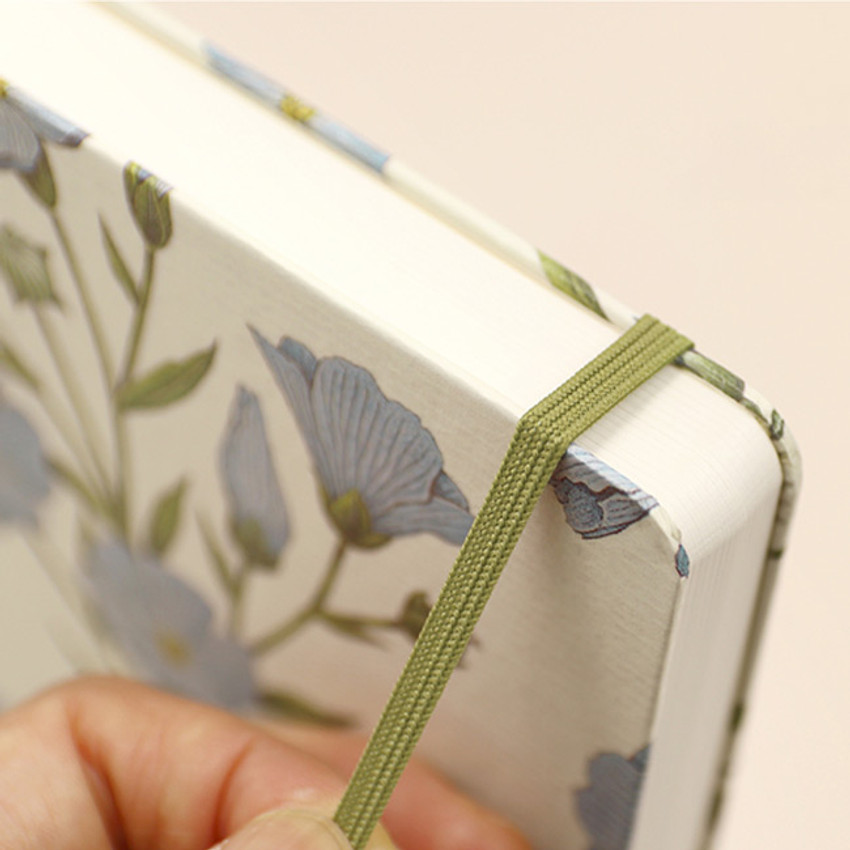 Elastic band closure - Paperian Florence large undated daily diary journal