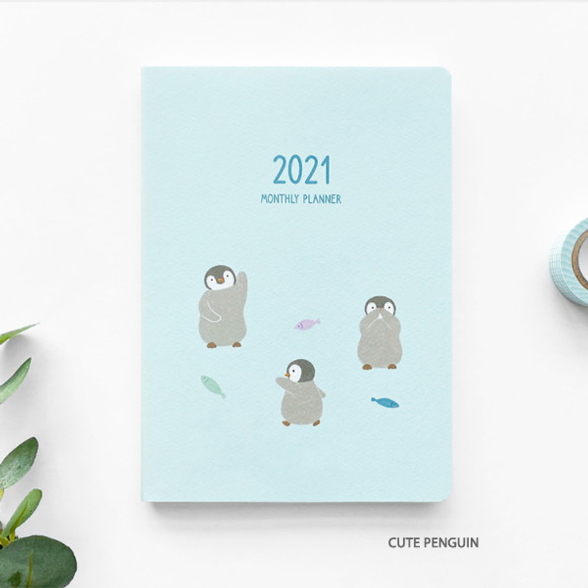Cute penguin - O-CHECK 2021 Spring come dated monthly planner scheduler