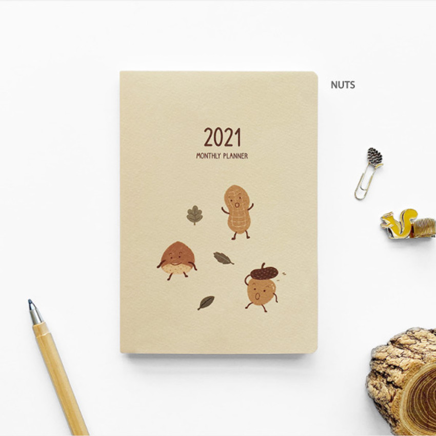 Nuts - O-CHECK 2021 Spring come dated monthly planner scheduler
