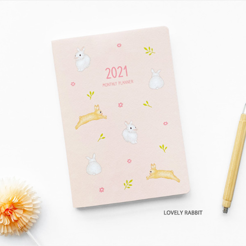Lovely Rabbit - O-CHECK 2021 Spring come dated monthly planner scheduler