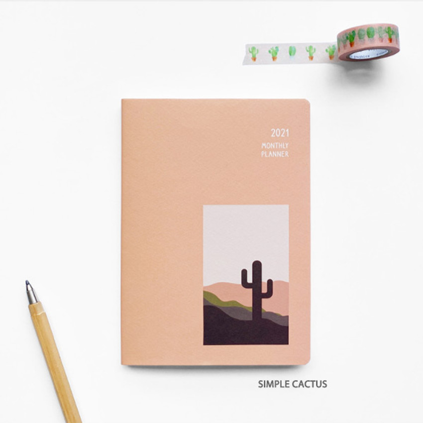 Simple cactus - O-CHECK 2021 Spring come dated monthly planner scheduler