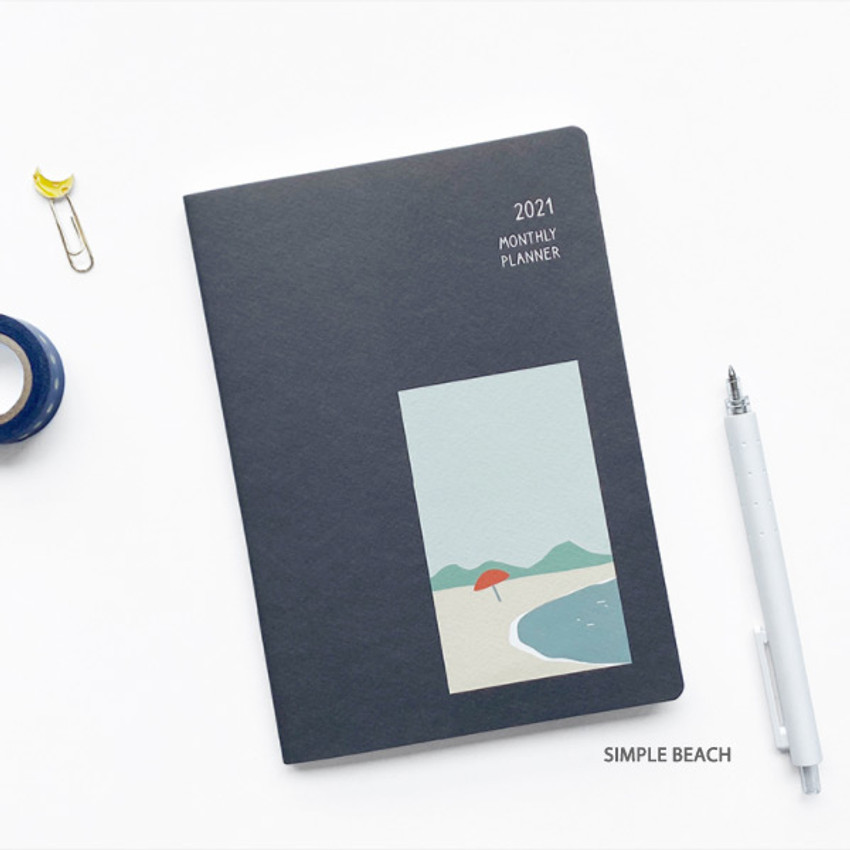 Simple beach - O-CHECK 2021 Spring come dated monthly planner scheduler