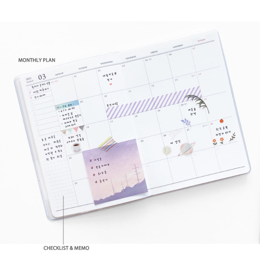 Monthly plan - O-CHECK 2021 Spring come dated monthly planner scheduler