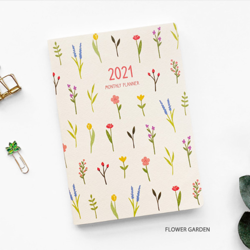 Flower garden - O-CHECK 2021 Spring come dated monthly planner scheduler