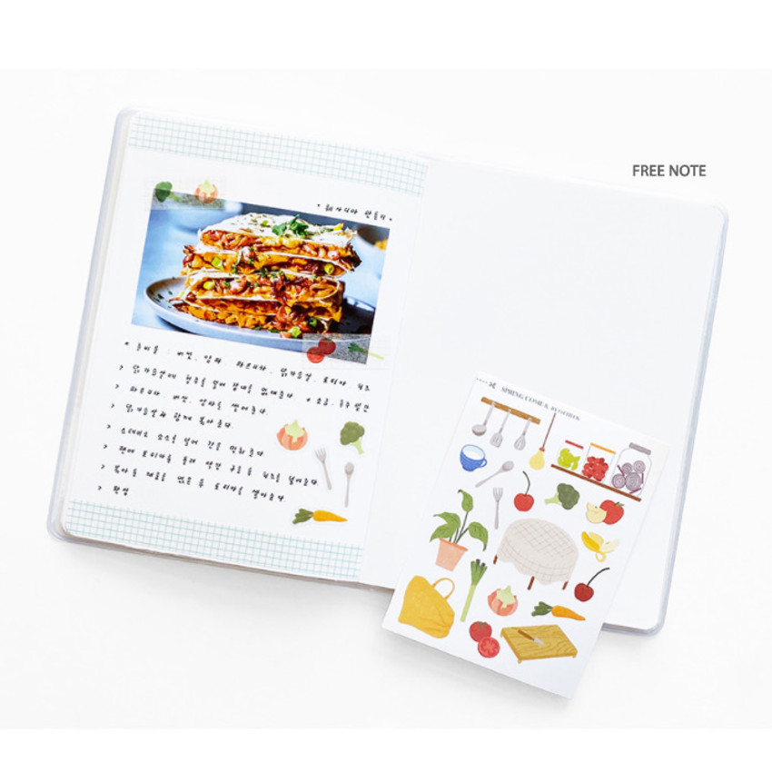 Blank note - O-CHECK 2021 Spring come dated monthly planner scheduler