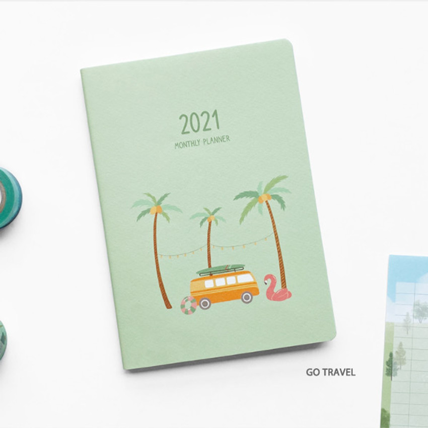 Go Travel - O-CHECK 2021 Spring come dated monthly planner scheduler