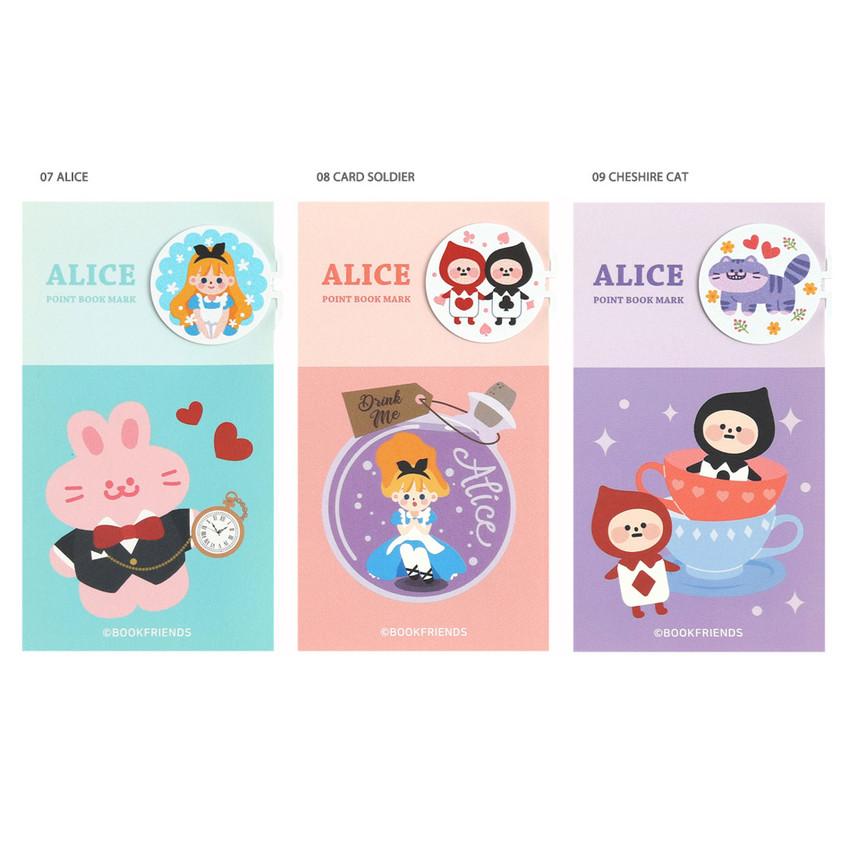 Alice - Bookfriends World literature point steel bookmark