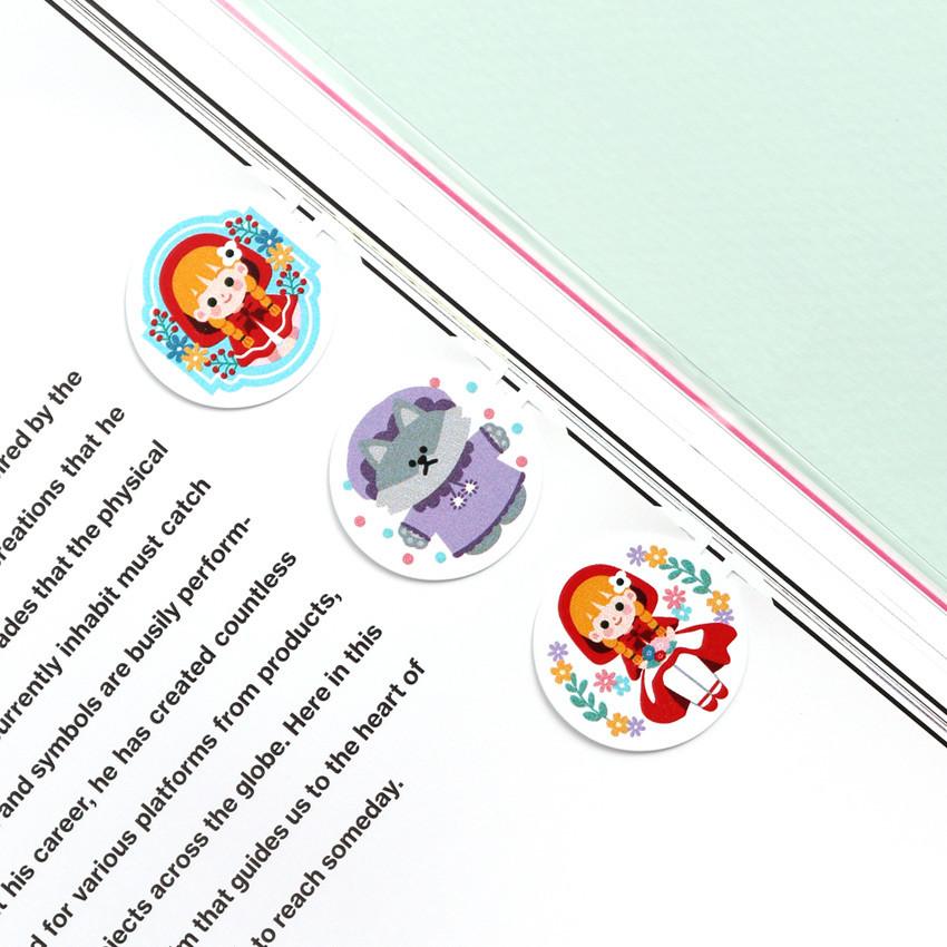 Little red riding hood - Bookfriends World literature point steel bookmark
