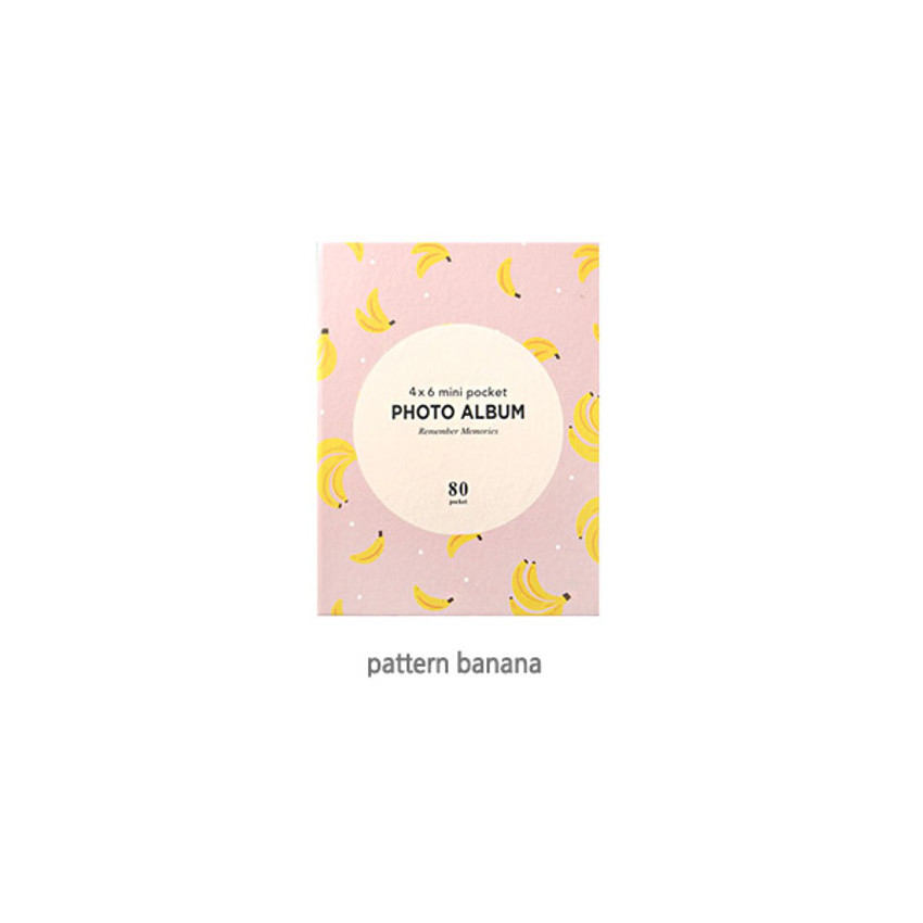 Pattern Banana - 2young Remember memories 4X6 slip in 80 pockets photo album